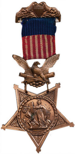 COL. 16 resolute courage medal of honor as it appeared at time dougherty received it