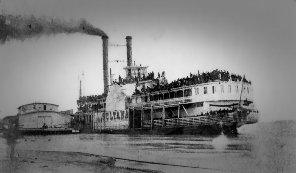 COL. 16 resolute courage sultana loaded with roops before explosion